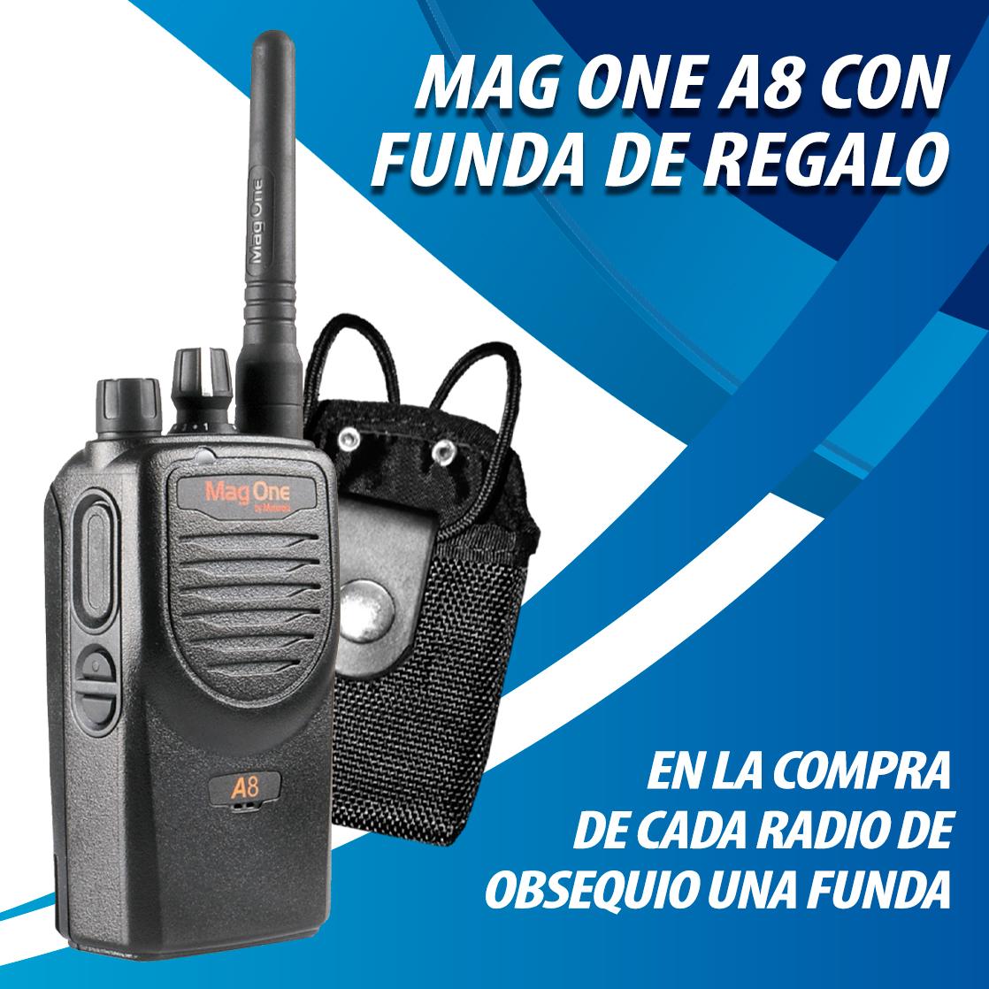 En la compra de cada radio mag one a8 de regalo una funda