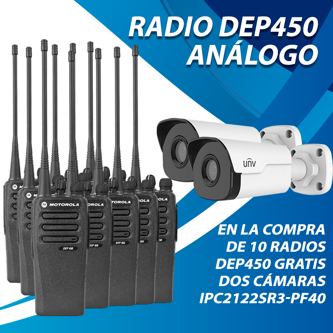 10 RADIOS DEP450 Y 2 CÁMARAS GRATIS