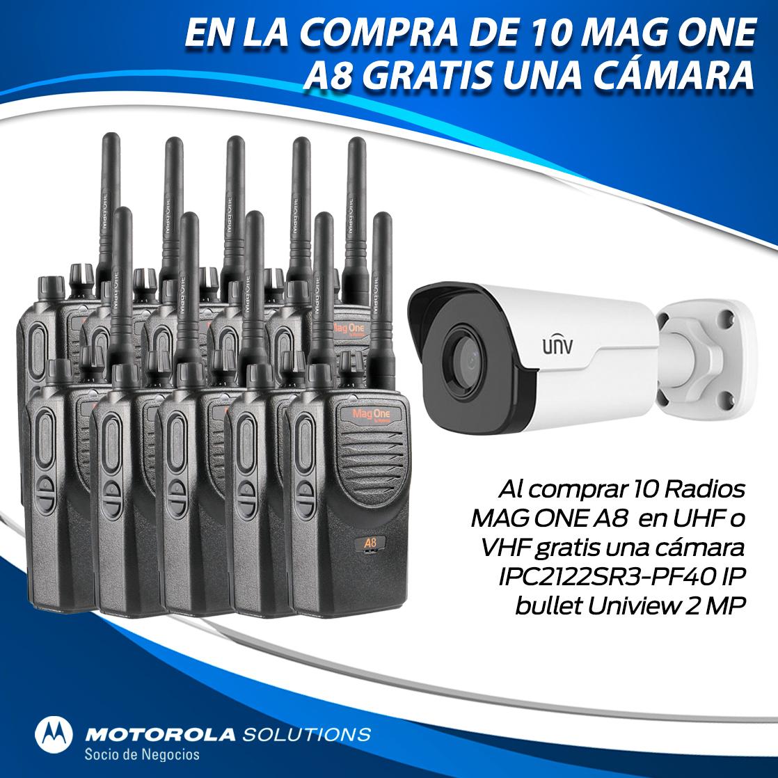 10 Mag one A8 más cámara gratis.