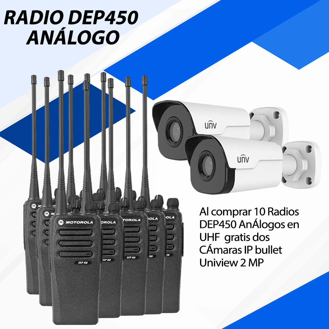 10 RADIOS ANALOGOS DEP450 CON 2 CAMARAS GRATIS